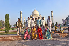 Indian people visit Taj Mahal Stock Photos