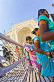 Indian people visit Taj Mahal Royalty Free Stock Photo
