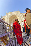 Indian people visit Taj Mahal Royalty Free Stock Photography