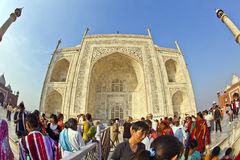 Indian people visit Taj Mahal Stock Images