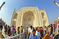Indian people visit Taj Mahal Royalty Free Stock Images