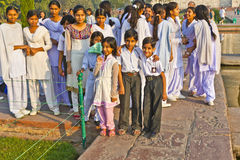 Indian people visit Taj Mahal Royalty Free Stock Photos