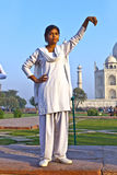 Indian people visit Taj Mahal in India Royalty Free Stock Image