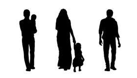 Indian people walking silhouettes set 3 Royalty Free Stock Image