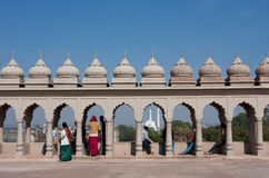 Indian people on the viewing platform Stock Photography
