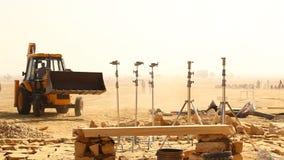 Indian People working in desert stock footage
