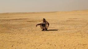Indian People working in desert stock video