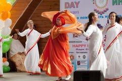 Indian performance Banda Matra Stock Photos