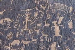 Indian petroglyph Stock Photos
