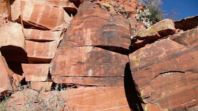 Indian Petroglyphs stock footage