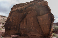 Indian Petroglyphs on Birthing Rock Stock Photo