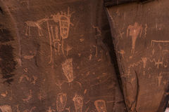 Indian Petroglyphs on Birthing Rock Royalty Free Stock Photography