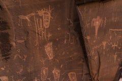 Indian Petroglyphs on Birthing Rock Royalty Free Stock Photography