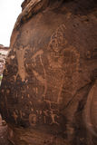 Indian Petroglyphs on Birthing Rock Royalty Free Stock Image