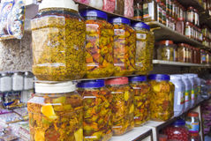 Indian Pickle shops in India Royalty Free Stock Photography