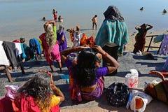 Indian Pilgrimage Stock Photo