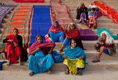 Indian pilgrims royalty free stock photography