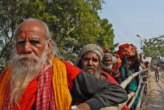 Indian Pilgrims Stock Photo