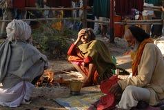 Indian Pilgrims Royalty Free Stock Photos