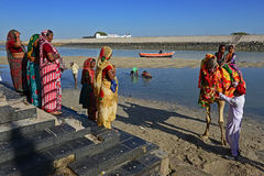 Indian Pilgrims Stock Photography