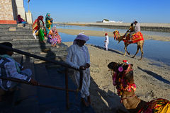 Indian Pilgrims Royalty Free Stock Images