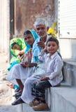 Indian pilgrims in Varanasi Stock Photos