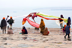 Indian pilgrims in Varanasi, India Stock Photography