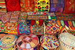 Indian pillows and carpets Royalty Free Stock Image