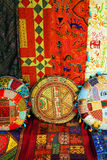 Indian pillows and carpets Royalty Free Stock Photo