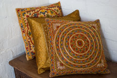 Indian pillows Royalty Free Stock Image