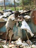Indian poor man stock photo