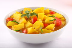 Indian potato curry with herbs and spices. Stock Photography