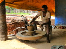 Indian potter Stock Images