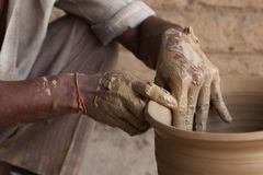 Indian Potter Royalty Free Stock Photography