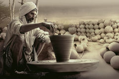 Indian potter Stock Photo