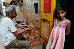 Indian Potters Stock Image