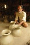 Indian pottery maker Stock Photos