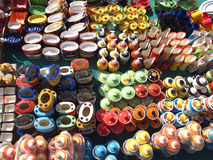 Indian Pottery Shop Royalty Free Stock Photos