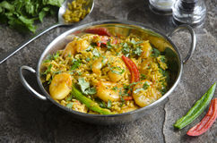 Indian prawn curry Stock Photo