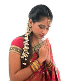 Indian prayer isolated Stock Photo