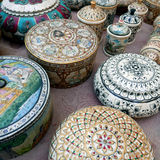 Indian pretty decorated boxes Stock Image