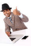 Indian professional with hat Stock Image