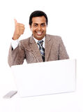 Indian professional showing thumbs up Royalty Free Stock Images