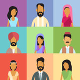 Indian Profile Avatar Set Business People Portrait Royalty Free Stock Photography