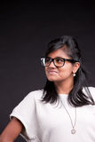 Indian proud girl with glasses Royalty Free Stock Photos