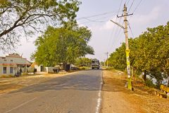 Indian provincial road Stock Image