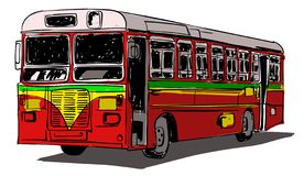 Indian Public Transport  illustration stock illustration