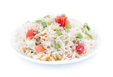 Indian pulav. Indian traditional healthy food kasmiri pulav Royalty Free Stock Photo