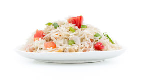 Indian pulav. Indian traditional healthy food kasmiri pulav Royalty Free Stock Images