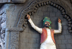 Indian Punjabi bhangra dancer Wall art Stock Photo